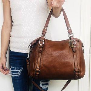 Coach Alexandra Whisky 🥃 Pebble Leather Tote Bag